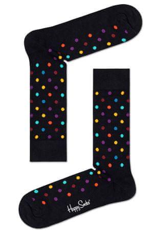 Happy Socks unisex ponožky Dot Sock DOT01-9300 36 - 40 černá