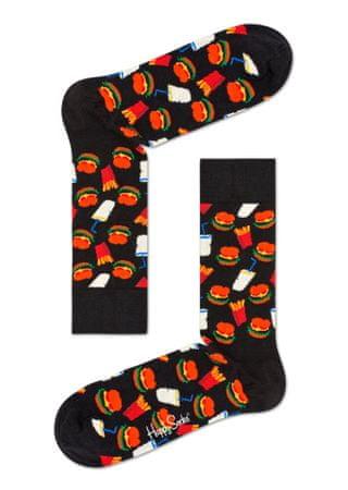 Happy Socks Hamburger Sock uniseks nogavice, večbarvne, 36–40