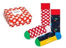 Happy Socks dvojité balení unisex ponožek Christmas Gift Box XBDO02-4300