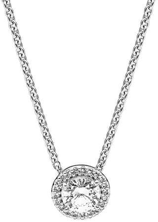 Pandora Srebrny naszyjnik z połyskiem zawieszką 396240 CZ -45 srebro 925/1000
