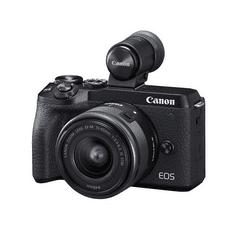 Canon EOS M6 Mark II + 15-45 IS STM + EVF fotoaparat + objektiv + iskalo