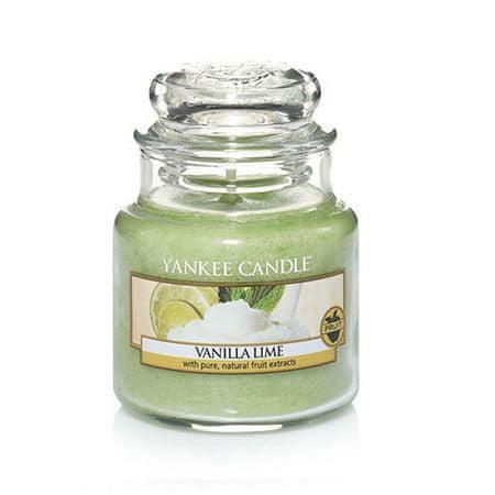 Yankee Candle Dišeča sveča Classic majhna vanilija in limeta (Vanilla Lime) 104 g