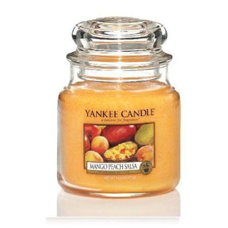 Yankee Candle Aromatická svíčka Classic střední Salsa z manga a broskví (Mango Peach Salsa) 411 g