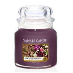 Yankee Candle Aromatická svíčka Classic střední Květiny ve svitu měsíce (Moonlit Blossoms) 411 g