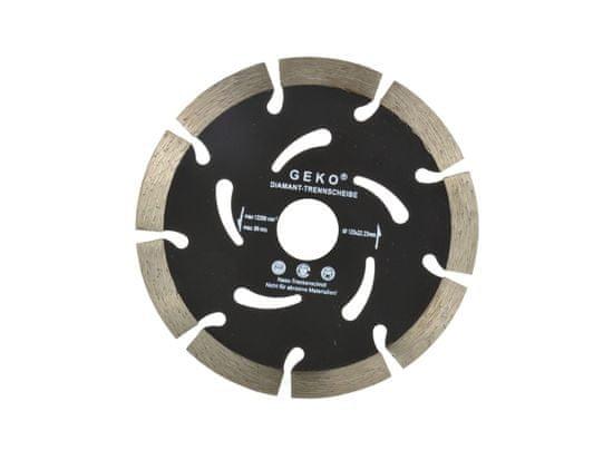GEKO Diamantový rezný kotúč, segmentový, 125x22,2x10mm, GEKO