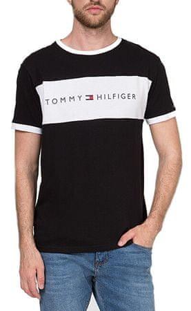 Tommy Hilfiger Koszulka męska Cn Ss Tee Logo Flag UM0UM01170 -990 Black (rozmiar L)