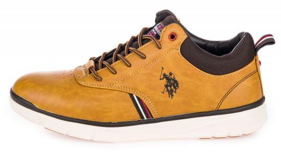 U.S. Polo Assn. pánská kotníčková obuv Cree YGOR4125W9/U1 41 žlutá