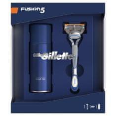Gillette zestaw upominkowy: maszynka do golenia Fusion5 + żel do golenia Sensitive