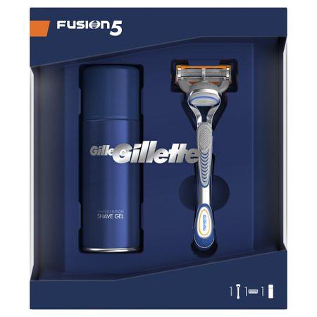 Gillette Fusion5 borotva + Sensitive borotválkozó gél ajándékcsomag
