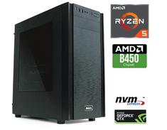 MEGA namizni računalnik 6000X Ryzen 5 2600/16GB/SSD250GB+2TB/GTX1660Ti/FreeDOS (PC-G6261X-A)