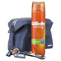 Gillette zestaw upominkowy: maszynka do golenia Fusion5 ProGlide + głowica do golenia + żel do golenia