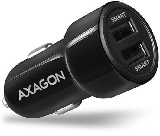 AXAGON SMART nabíjačka do auta, 2 × 5 V PWC-5v5
