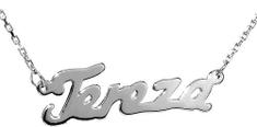 Silvego Stříbrný náhrdelník se jménem Tereza stříbro 925/1000