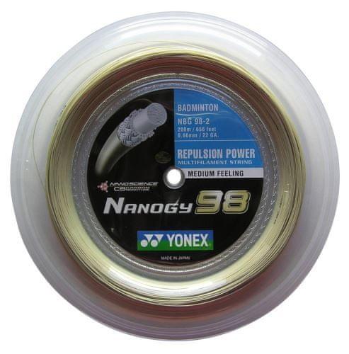 Yonex Badmintonový výplet Nanogy 98, 0,66mm, 200m, zlatý ...