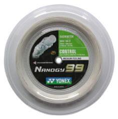 Yonex Badmintonový výplet Nanogy 99, 0,69mm, 200m, bílý