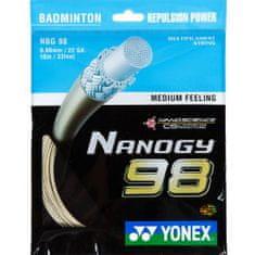 Yonex Badmintonový výplet Nanogy 98, 0,66mm, 10m, zlatý
