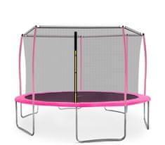 Aga Sport Fit Trampolina ogrodowa 430cm 14ft z siatką wewnętrzną - Pink