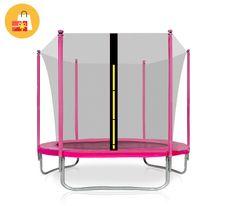 Aga Sport Fit Trampolina ogrodowa 305cm 10ft z siatką wewnętrzną - Pink