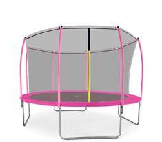 Aga Sport Fit Trampolina ogrodowa 366cm 12ft z siatką wewnętrzną - Pink