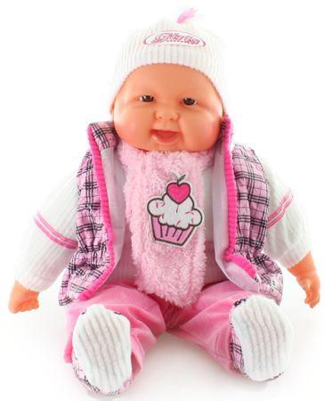 Lamps lalka niemowlę w kamizelce w kratę, 52 cm