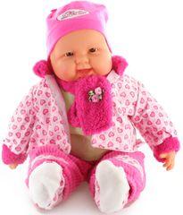 Lamps otroška velika punčka v srčkastih oblačilih, 52 cm