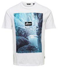 ONLY&SONS Pánske tričko ONSBROCK PhotoPrint TEE White