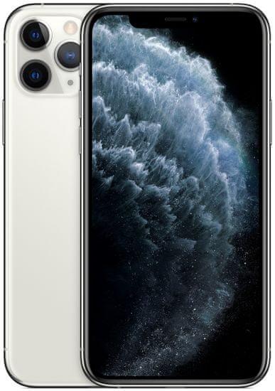 Apple iPhone 11 Pro, 512GB, Silver + bezdrátový QI stojánek ZDARMA