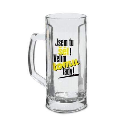 TORO Poháre na pivo Som tu šéf! 500 ml