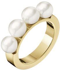 Calvin Klein Aranyozott gyűrű körözött gyöngyökkel KJAKJR1401