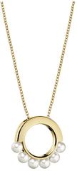 Calvin Klein Pozlacený náhrdelník s perličkami Circling KJAKJN140100