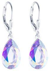 Preciosa Stříbrné náušnice s krystalem Iris 6079 42 stříbro 925/1000