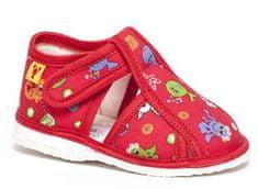 RAK Dievčenské papučky 10015-3 C3 červené