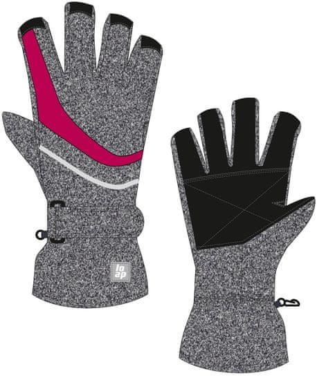 Loap dětské lyžařské rukavice RUFUS 12 šedá
