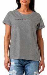 Tommy Hilfiger Dámske tričko Rn Tee Ss Logo UW0UW01618-091 Dark Grey Htr