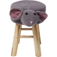 KARE Šedá stolička Funny Myš