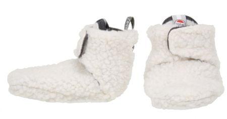 Lodger dětské capáčky Slipper Teddy Off White 15 bijela