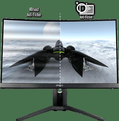 monitor gamingowy MSI Optix MAG272CQR (Optix MAG272CQR) oszczędza oczy technologia flicker free i low blue light