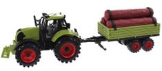 Johntoy Traktor s přívěsem na setrvačník 43 cm