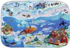 House of Kids Dětský hrací koberec Arktida 3D Ultra Soft 100x150 modrobílý