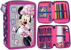 Derform Dvoupatrový penál Minnie Mouse plný