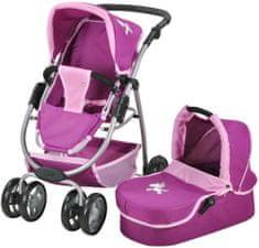 Knorrtoys Kombinovaný kočárek pro panenky COCO Jednorožec purpurový