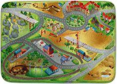 Achoka HOUSE OF KIDS Dětský hrací koberec Stavba 3D Ultra Soft 130x180 zelenožlutý