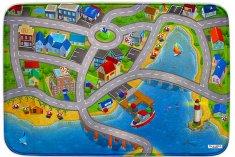 Achoka HOUSE OF KIDS Dětský hrací koberec Přístav 3D Ultra Soft 130x180 pestrobarevný