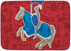 House of Kids Dětský koberec Rytíř Ultra Soft 100x150 červený