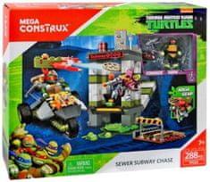 MEGA BLOKS Stavebnice Mega Bloks Želvy Ninja TMNT Souboj v podzemí 288 dílů