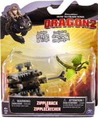 Spin Master Akční sada Jak vycvičit draka Zippleback vs. Zipplecatcher Battle pack