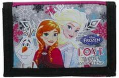 Derform Dětská peněženka Frozen Sisters třpytivá