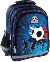 Derform Školní batoh Fotbal ergonomický 38cm modrý