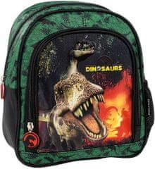 Derform Dětský batoh Dinosauři 25cm zelený