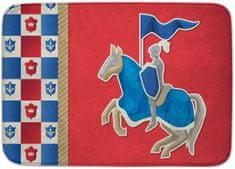 House of Kids Dětský koberec Rytíř s erby Ultra Soft 100x150 červený